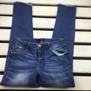 1822 Denim Jeans Ankle Stretch Size 8 Mid-rise T12